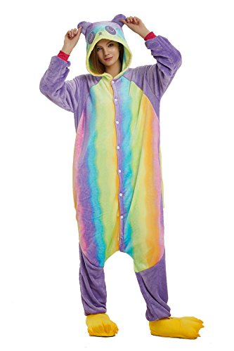 Pigiami da Unicorno travestimenti e Animale Costume Panda Costumi Colorful Attrezzatura Adulti Cosplay Pigiama Halloween camicie Anime Monopezzi notte VineCrown PqFnvwOax