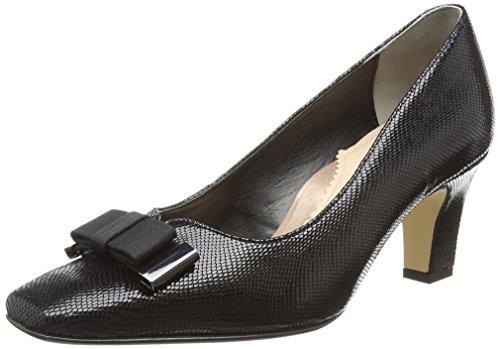 160 Van Reptile Cerrada Mujer para Kett Dal Zapatos Black de con Punta Tacón Print Negro fHxq6gfBnr