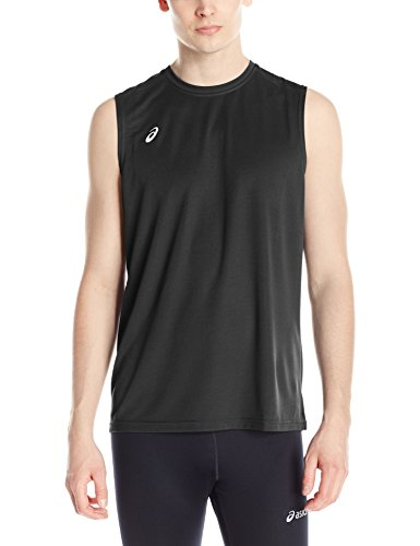 ASICS Men's Circuit 8 Warm-up Sleeveless, Black, Small