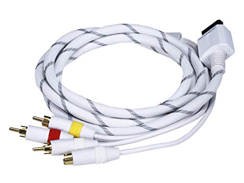 Monoprice AV Cable w/ Composite (Yellow RCA)/S-Video and Stereo Audio (Red/White) for Wii - Net Jacket and Gold Plated