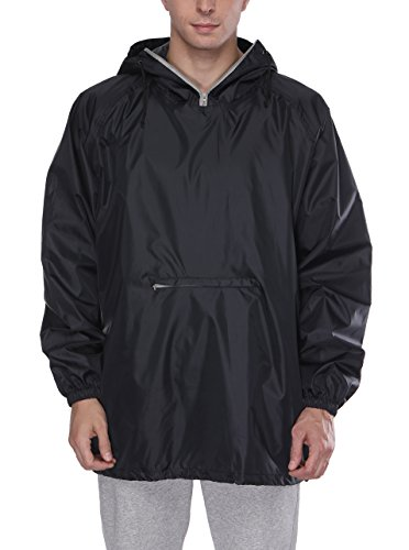 SWISSWELL Men's Classic Rain Jacket with Hood Black XX-Large