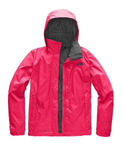 The North Face Women's Resolve 2 Jacket - Atomic Pink & Asphalt Grey - XS -