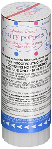 Amscan 12 Count Gender Revealing Baby Girl Confetti Party Poppers Pink