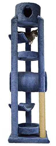 Molly and Friends MF-84-blue Deluxe Scratching Post Furniture, Blue