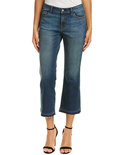 J Brand Flare Jeans (J Brand Jeans Women's Selena Mid Rise Bootcut Crop Jean, Undertow, 30)