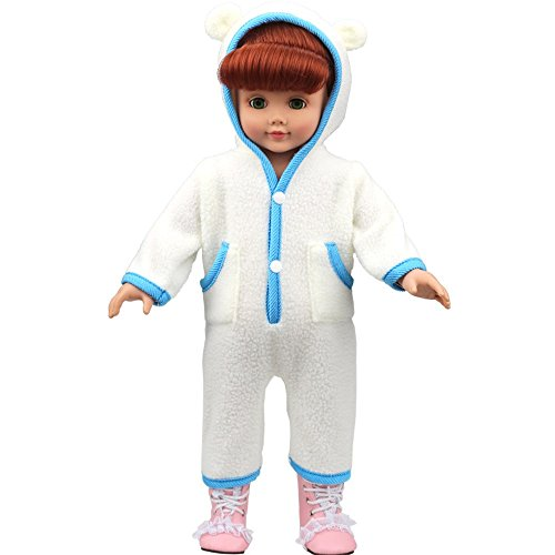 (AMOFINY Cute Baby Doll Clothes Pajamas Custom Design Pajamas Outfit For 18 Inch)