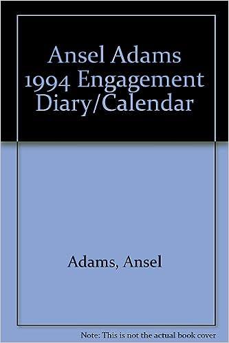 ansel adams 1994 engagement diary calendar
