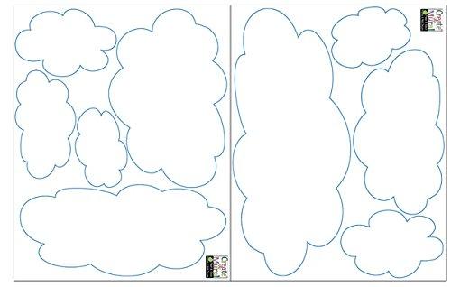 Create-A-Mural Fluffy Cloud Wall Decals -Baby Nursery Room Wall Decor by Create-A-Mural