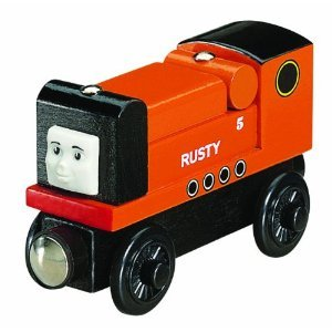 THOMAS THE TANK WOODEN TRAIN ENGINE - RUSTY - Learning Curve Trains