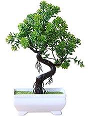 Lsgepavilion Symulacja roślina sztuczne doniczkowe drzewo dekoracja domu stół bonsai elementy środkowe - zielony