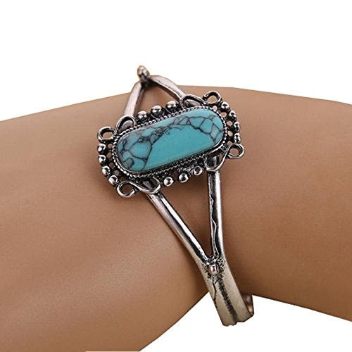 Cafurty Eruner 2015 New Arrival Movie Twilight Bella Bangle Vintage Silver Plated Natural Turquoise Alloy Bracelet For Women