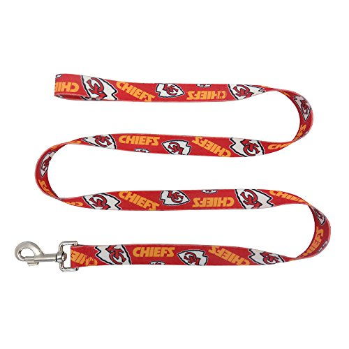 NFL Kansas City Chiefs Team Pet Leash, 1-inch by 60-inches, Red