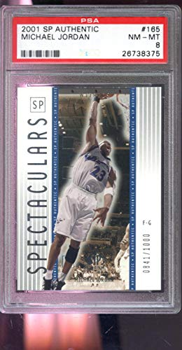 2001-02 Upper Deck SP Authentic Spectaculars #165 841/1000 Michael Jordan Insert NBA NM-MT PSA 8 Graded Basketball Card ()