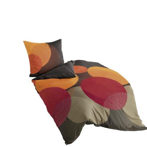 Bierbaum 6155_09 Mako-Satin-Bettwäsche Dessin, 135 x 200 cm und 80 x 80 cm, kakao 09