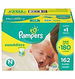 Amazon.com: Pampers Swaddlers Diapers, Newborn (156 ct.): Health ...