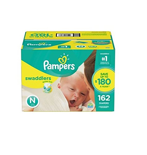 Pampers Swaddlers Diapers, Size Newborn, 144 Diapers