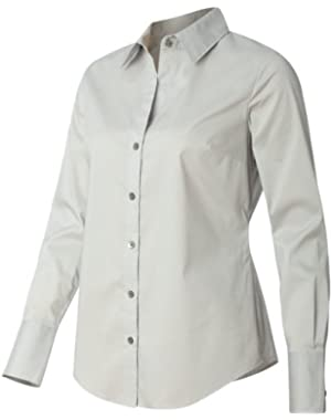 Calvin Klein Ladies' Cotton Stretch Shirt-13CK018-Small-Ash