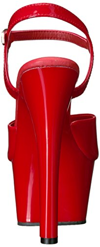 Sandali Plateau red Con Pleaser Pat Red Donna Aspire 609 Aqwqxzg