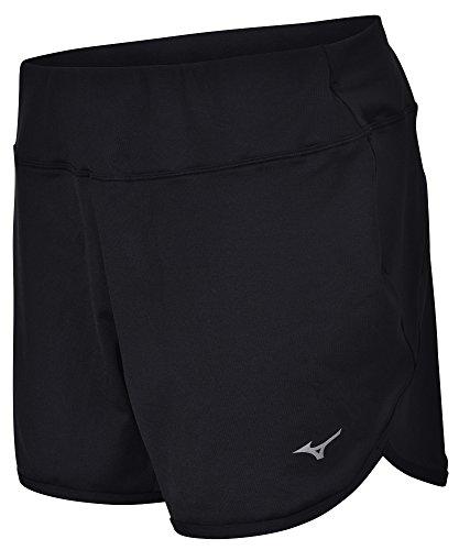 Mizuno Running Women's Active Knit Shorts (Medium, Black) Mizuno Stretch Jersey