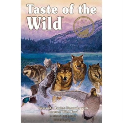 Taste of the Wild Dry Dog Food, Wetlands Canine Formula with Roasted Wild Fowl, 5 Pound Bag, My Pet Supplies