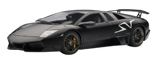 LAMBORGHINI MURCIELAGO LP6704 SV NERO NEMESIS / MATT BLACK Diecast Model Car in 1:18 Scale by AUTOart