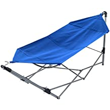 Stalwart  Portable Hammock with Frame Stand and Carrying Bag, Blue