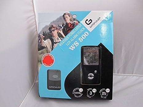 Geonaute WS 500 Estación meteorológica, pantalla LCD, reloj despertador, reloj de mesa: Amazon.es: Hogar