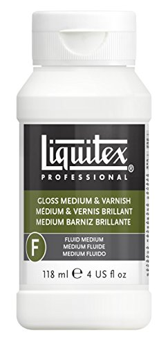 Liquitex Professional Gloss Fluid Medium & Varnish, 4-oz - Clear Gloss Acrylic