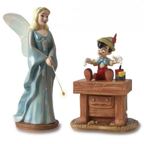 Disney WDCS Blue Fairy & Pinocchio Figurine Set
