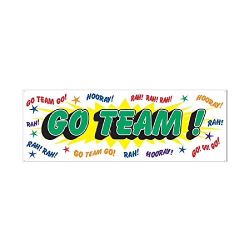 Bargain World Go Team! Sign Banner (with Sticky Notes) -