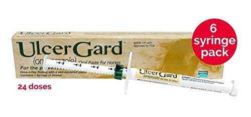 6 Pack Ulcergard (Omeprazole) Oral Paste Syringe (13.68 Gm) by Merial