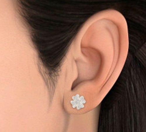 Or jaune 18K 0,49carat au total White-diamond (IJ | SI) Boucles d'oreille à tige