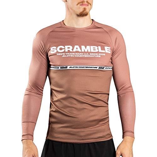 SCRAMBLE BJJ Ranked Long Sleeve Rashguard - Large - Brown