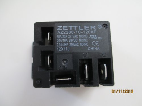 Zettler Miniature Power Relay 30A SPDT 120VAC (120v Relay)