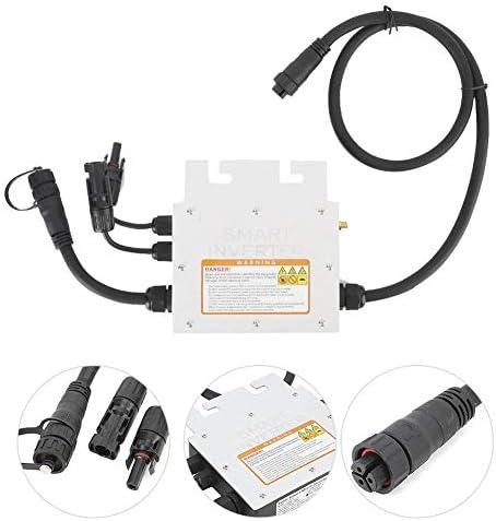 Solar Wechselrichter,SG350MS Solar Inverter Solar Wechselrichter LED Anzeige Micro Grid Tied IP65 wasserdicht 350W mit Empfänger,Solar Wechselrichter mit Netzanschluss,Solarwechselrichter(230V)