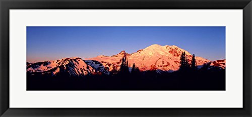 Sunset Mount Rainier Seattle WA by Panoramic Images Framed Art
