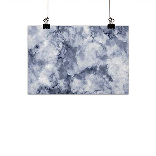 Littletonhome Marble Living Room Decorative Painting Cloudy Stylized Artistic Marble Pattern with Foggy Effects Abstract Display Modern Minimalist Atmosphere 27