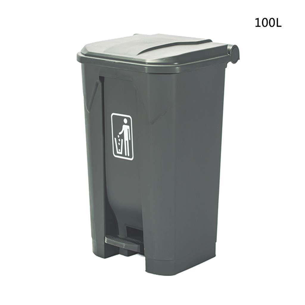 Perfect ending CB Pattumiera del pedale del deodorante, pattumiera di plastica ad alta capacità con il pattumiera del coperchio Pattumiera di riciclaggio dei rifiuti del centro commerciale 80-100L ChenBin