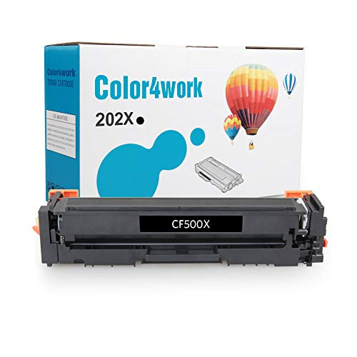 Color4work Compatible Toner Cartridge Replacement for HP 202X 202A CF500A CF500X High Yield Black, 1-Pack, use for HP Color LaserJet Pro MFP M281 M281fdw M281cdw, M254 M254dw Printer