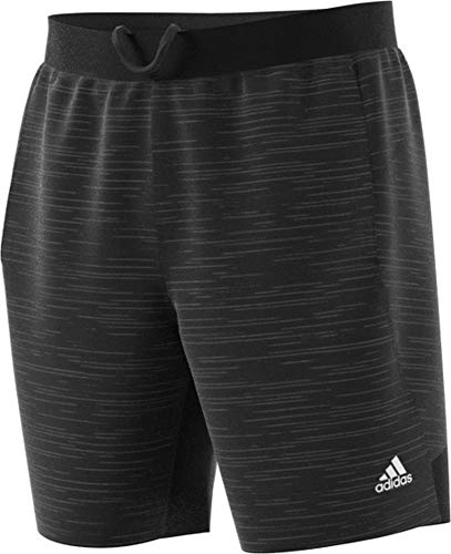 adidas Men's 4KRFT Sport Striped Heathered Workout Shorts