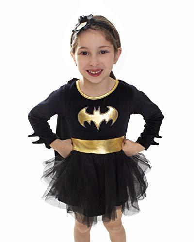 DC Comics Batgirl Baby Girls Costume Dress - Superhero Costumes for Toddler Girls (Black 2T)