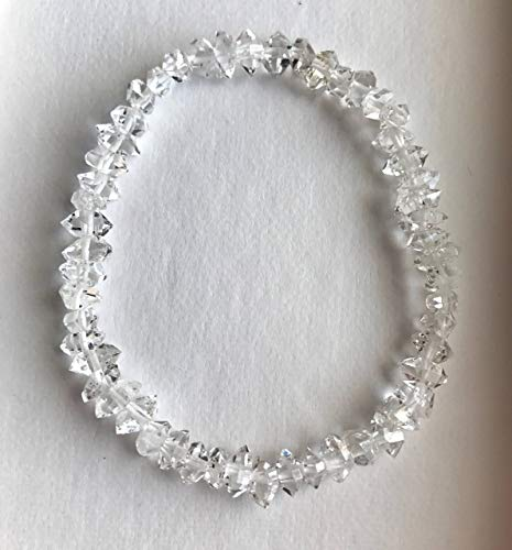 Sparkling Herkimer Diamond Quartz stretch Bracelet (Diamonds Sparkling Bracelet)