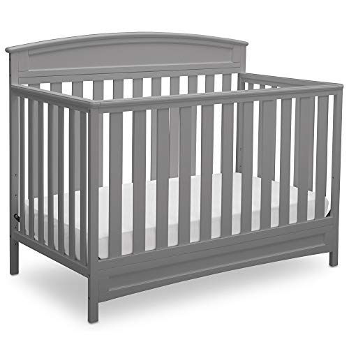 Delta Children Sutton 4-in-1 Convertible Baby Crib, Grey ()