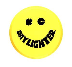 """KC HiLiTES 5202 6"""" Round Yellow Plastic Light Cover w/Black KC Daylighter Logo - Single Cover"""