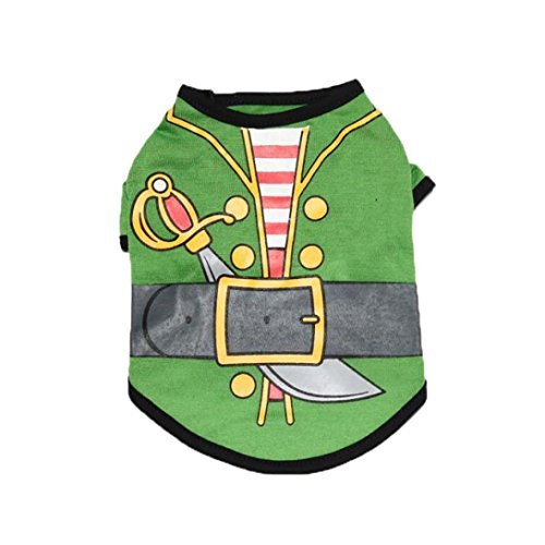 (Hot Sale Fashion New Pet Clothes Cute Lovely Cute Small Pet Dog Clothes Fashion Costume Puppy Cat T-Shirt Apparel by Neartime (L, Green))