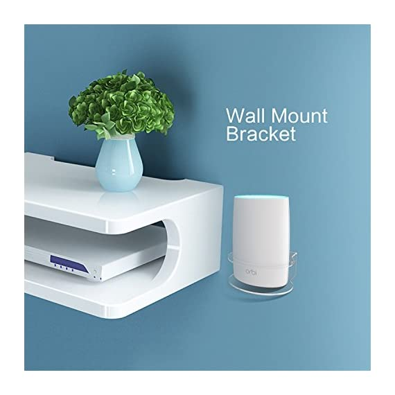 Netgear Orbi Wall Mount, BASSTOP Sturdy Clear Acrylic Wall Mount Bracket for NETGEAR ORBI AC3000/AC2200 Tri Band Home WiFi Router 5 Clean Look: Compact and lightweight,Looks clean and classic with your Orbi WiFi Router Better Signal: No interference and acquire better wifi signal and when mounting up, prevent your children or pets to play with it without dropping Save Space: Save your limited space and keep your device away from any water or others that might accidentally spill or splash