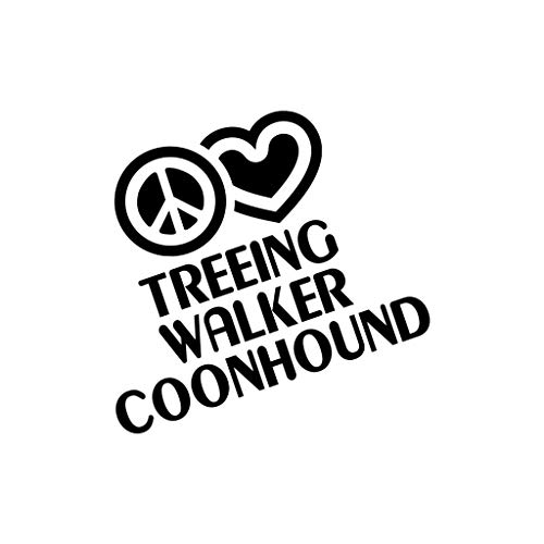 PEACE LOVE TREEING WALKER COONHOUND Dog Dogs Car Laptop Sticker ()