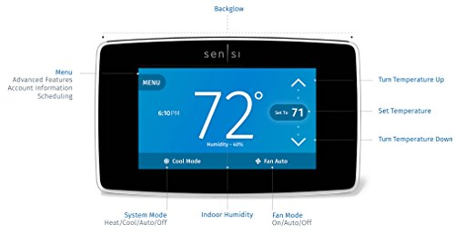 Emerson Sensi Touch Wi-Fi Thermostat with Touchscreen Color Display for Smart Home, ST75, Works with Alexa by Emerson Thermostats (Image #9)