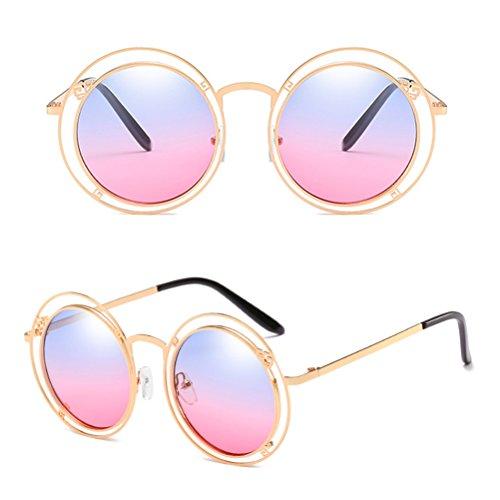 Unisexe et Hommes de de des Zhhlaixing Femmes Gradient Soleil Géométrique Géométrique Blue Sunglasses Couleur Motif Lunettes de de Irrégulière pour des Double SS4xOwT