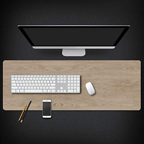Wood Grain Marble Gaming Mouse Pad,stilvoll Geometric Patterns Computer Keyboard Pad Mouse Mat with Waterproof Coating, Not Slip Base,Large Office Gaming Table Pad -e 40x90x0.3cm(16x35x0.11inch)